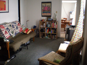 dirty small living room cleanup