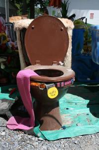 Decorated Toilet