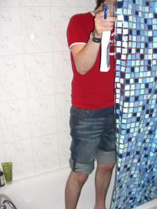 curtain bathroom cleanup