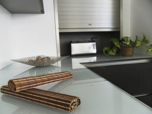 kitchen countertop glass
