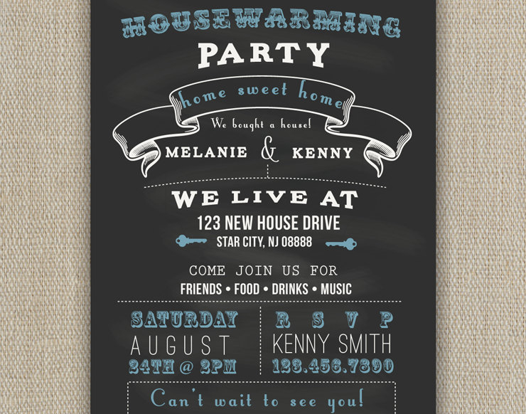 chalkboard party invite