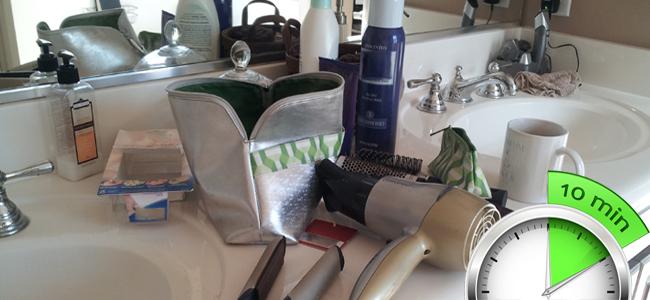 10 Minute Bathroom Cleanup