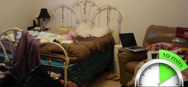 10 Minute Bedroom Cleanup