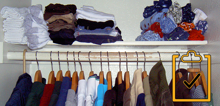 Organize Your Bedroom Closet The Checklist Groomed Home Simple Organize Bedroom Closet