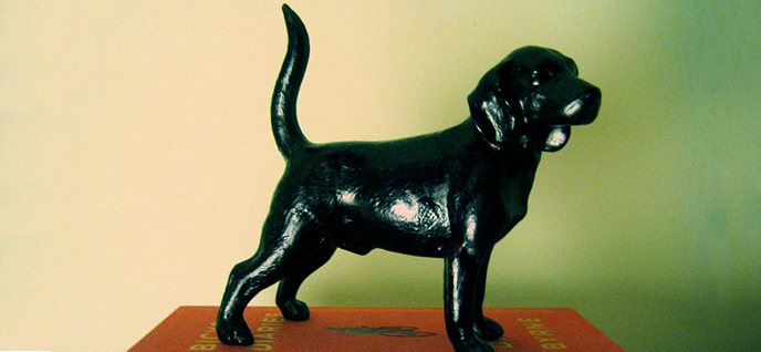 black dog figurine