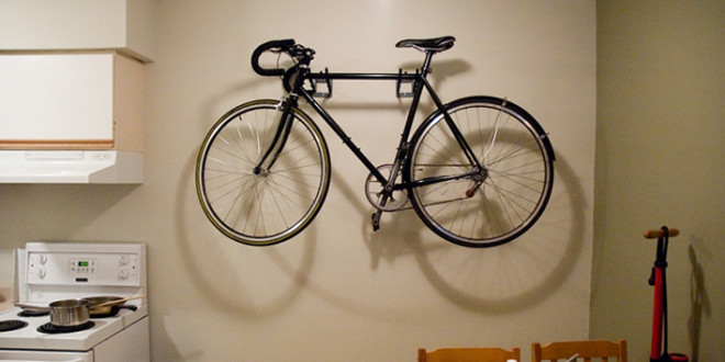 9 Ways to Store a Bike in a Small Apartment & 9 Ways to Store a Bike in a Small Apartment - Groomed Home