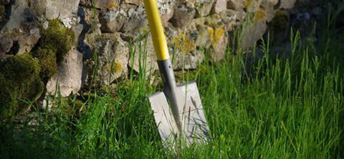 repaired shovel