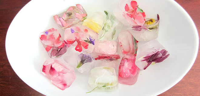 Make Floral Ice Cubes