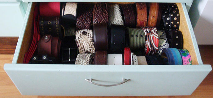 belts organized