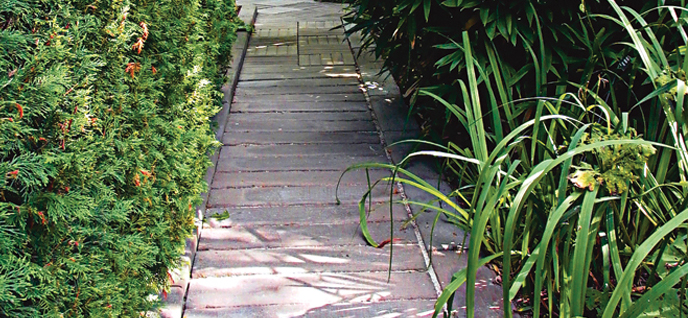 crosstie garden path