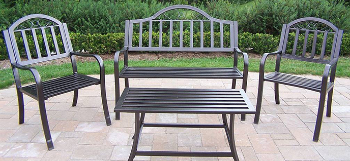 Iron Patio Furniture metal outdoor furniture | home design ideas