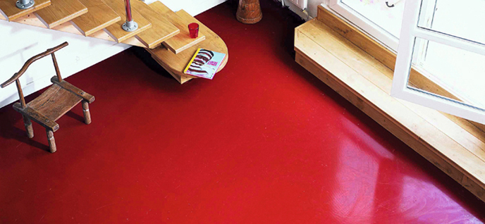 Red Painted Floors Home Design