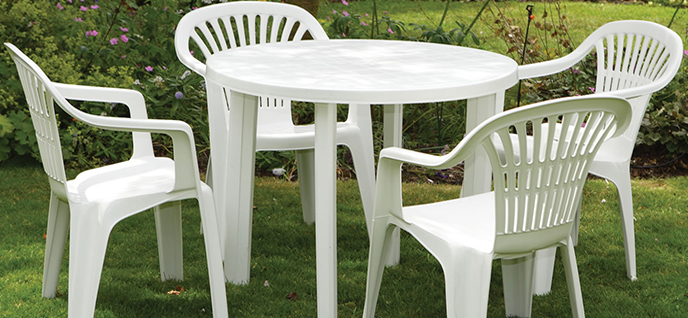 the most effective and least aggressive way to wash pvc furniture is