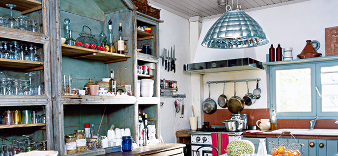 doorless kitchen