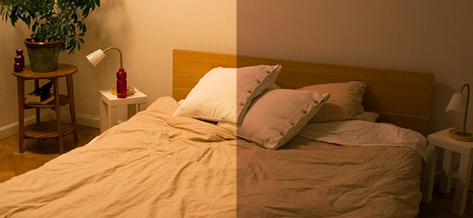 bedroom night and day