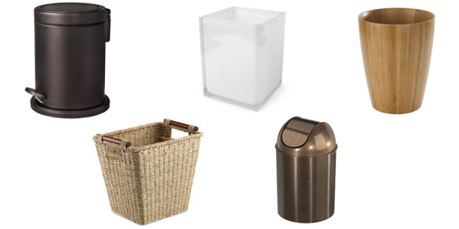 7 Bathroom Wastebaskets. 7 Bathroom Wastebaskets   Groomed Home
