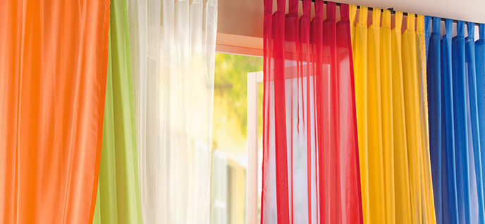colorful curtains - Simple Ways To Decorate Your Bedroom
