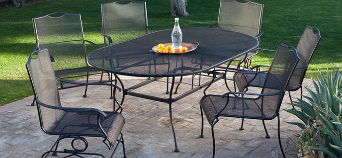 Garden Furniture Steel choosing the right patio furniture material - groomed home