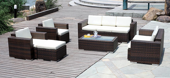 wicker patio
