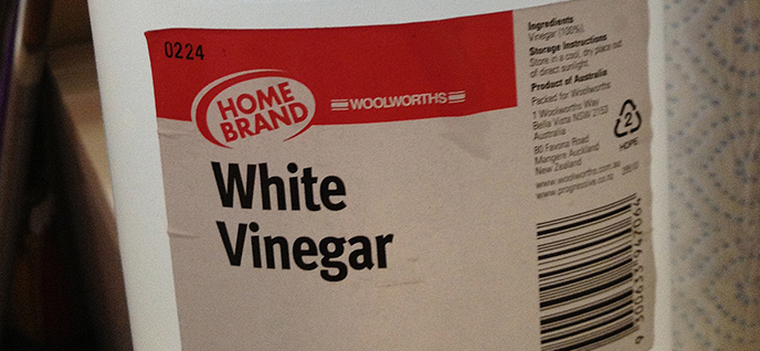 white vinegar bottle